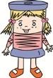 Bobine, mascotte de la Maison du Textile
